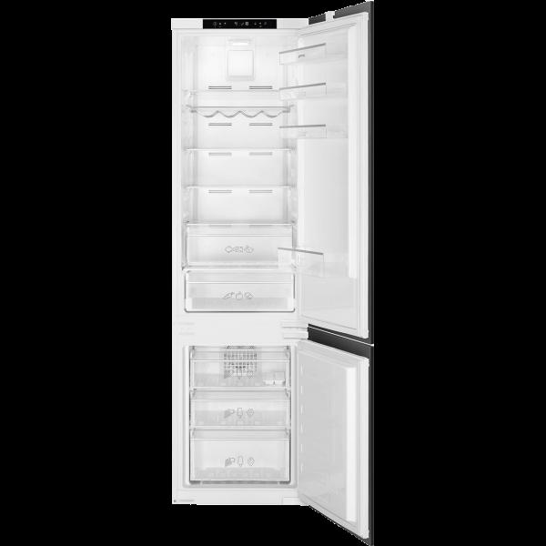 Встраиваемый комбинированный холодильник, No-Frost, Белый Smeg C8194TNE