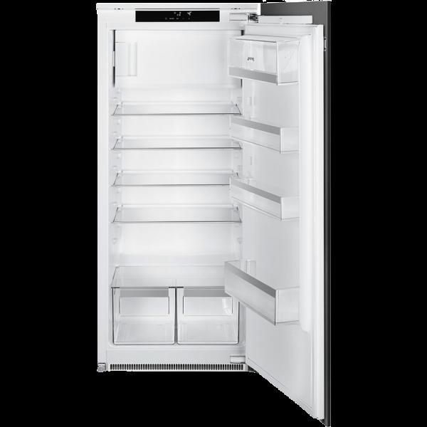 Встраиваемый однодверный холодильник, морозильное отделение сверху, 122 см, Белый Smeg SD7185CSD2P1