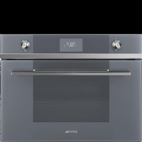 Компактная микроволновая печь, 60 см, Серебристый Smeg SF4101MS1