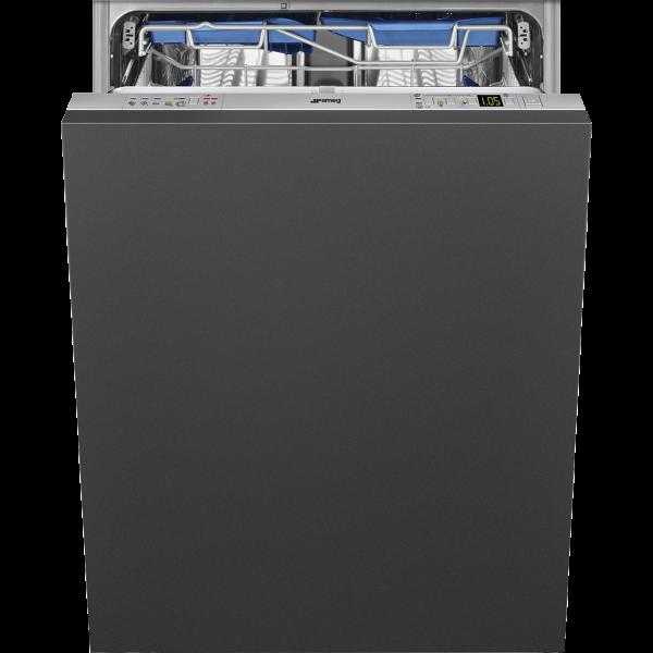 Полностью встраиваемая посудомоечная машина, 60 см, Серебристый Smeg STL62336LDE