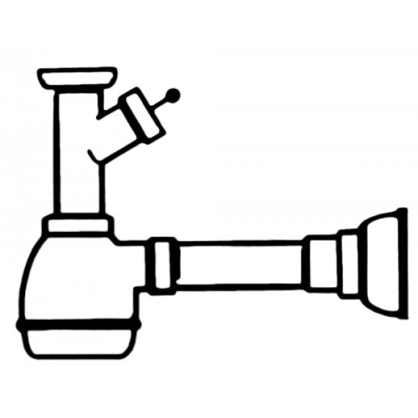 Сифон для 1 чаши Smeg 3712