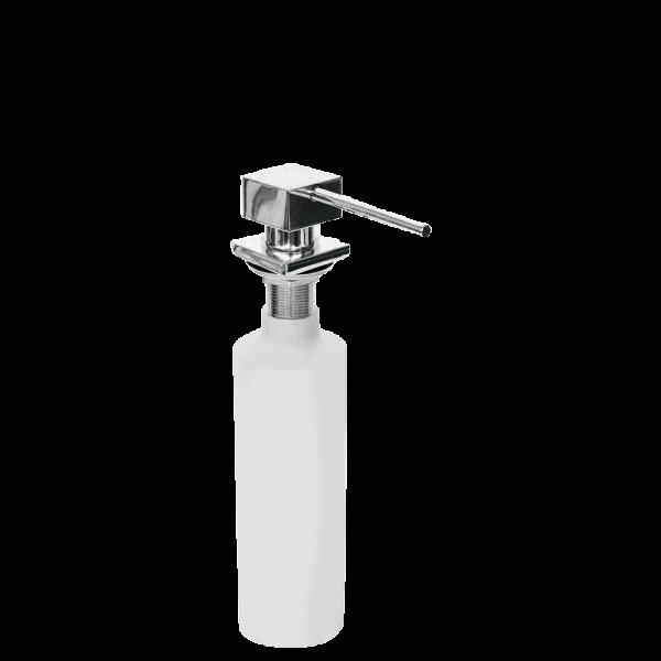 Дозатор для жидкого мыла квадратный, Серебристый Smeg KITDSQ