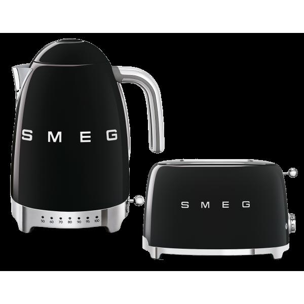 Набор Smeg чайник KLF04BLEU + тостер TSF01BLEU Чёрный