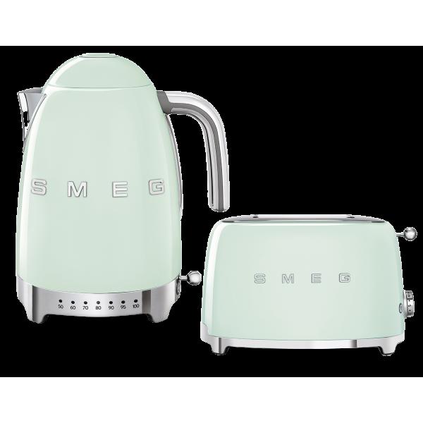 Набор Smeg чайник KLF04PGEU + тостер TSF01PGEU Зеленый