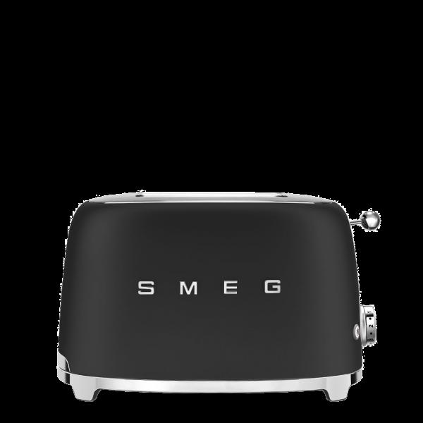 Тостер на 2 ломтика, Чёрный матовый Smeg TSF01BLMEU