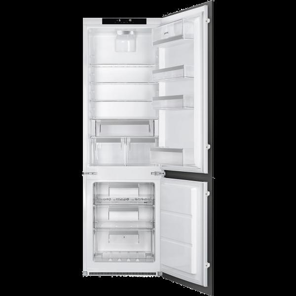 Встраиваемый комбинированный холодильник, Белый Smeg C8174N3E