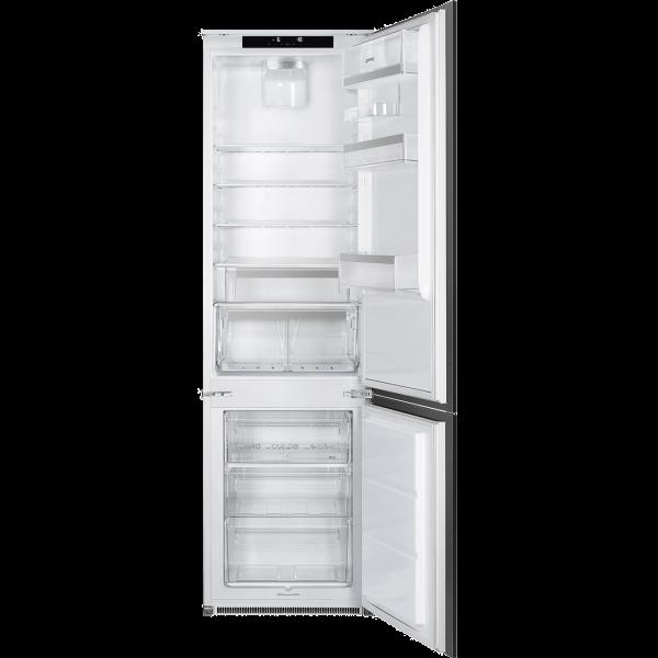 Встраиваемый комбинированный холодильник, Белый Smeg C8194N3E