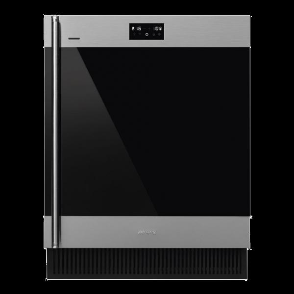 Холодильный шкаф для вина встраиваемый, 82 см, Нержавеющая сталь Smeg CVI338RX3