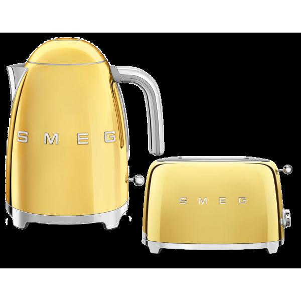 Набор Smeg чайник KLF03GOEU + тостер TSF01GOEU Золотой