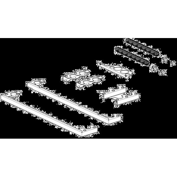 Комплект Smeg для установки 2-х печей конвекционных и вытяжного зонта