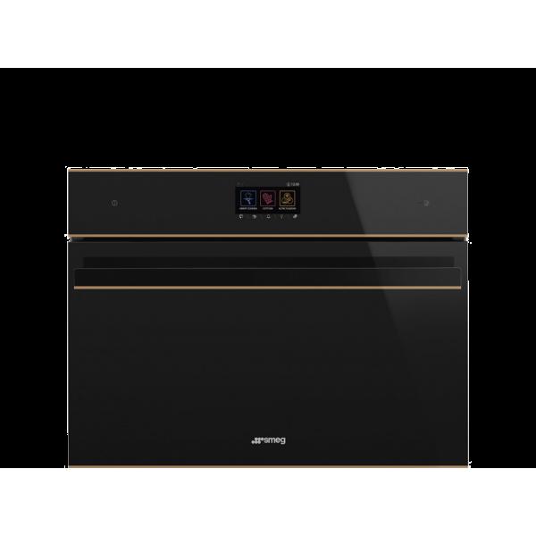 Компактный духовой шкаф, комбинированный с микроволновой печью, 60 см, Чёрный Smeg SF4604WMCNR