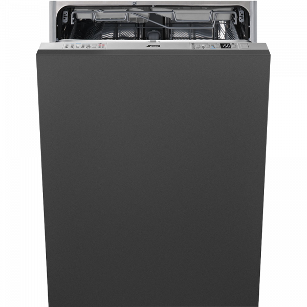 Полностью встраиваемая посудомоечная машина, 60 см, Серебристый Smeg STL66337L