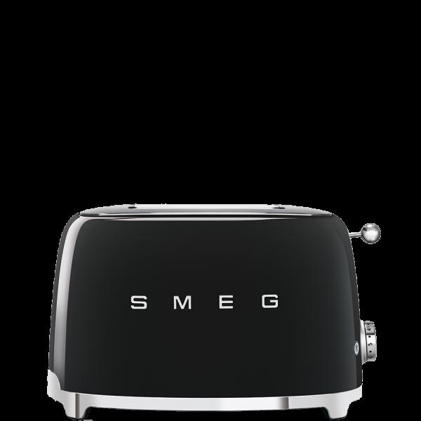 Тостер на 2 ломтика, Чёрный Smeg TSF01BLEU