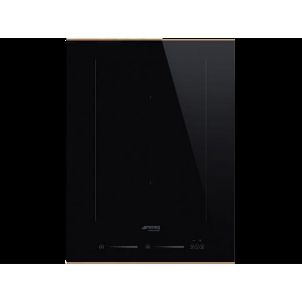 Индукционная варочная панель, 38 см, Чёрный Smeg SIM631WLDR