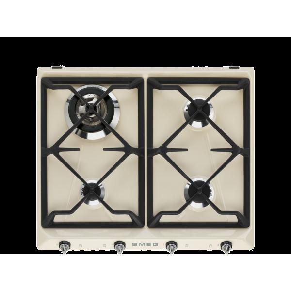 Газовая варочная панель, 60 см, Кремовый Smeg SR964PGH