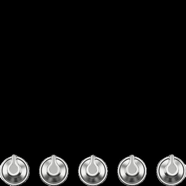 Набор ручек для варочных панелей Smeg 5MP1GOG