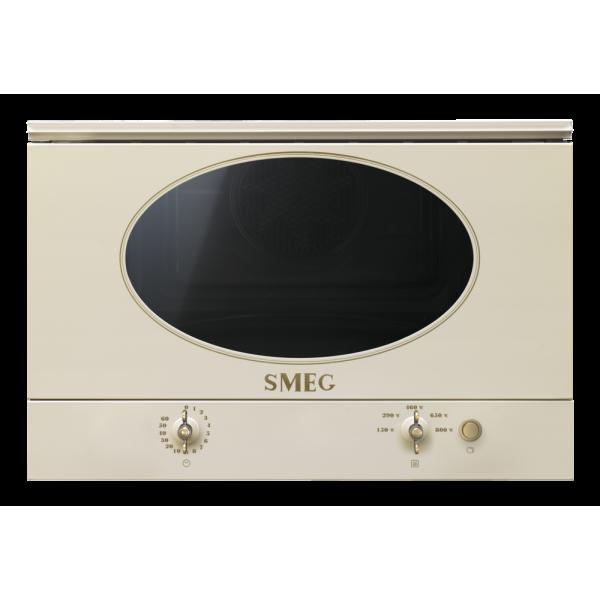 Встраиваемая микроволновая печь, 60 см, Кремовый Smeg MP822NPO