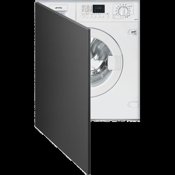 Встраиваемая стиральная машина с сушкой, 60 см, Белый Smeg LSIA147S