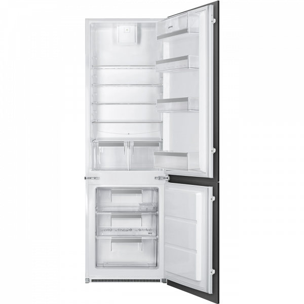 Встраиваемый комбинированный холодильник, Белый Smeg C81721F