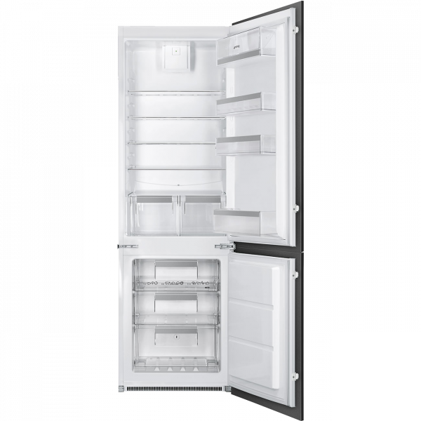 Встраиваемый комбинированный холодильник, Белый Smeg C8173N1F