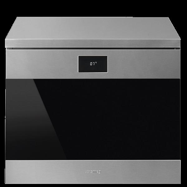 Холодильный шкаф для вина встраиваемый, 45 см, Нержавеющая сталь Smeg CVF318X