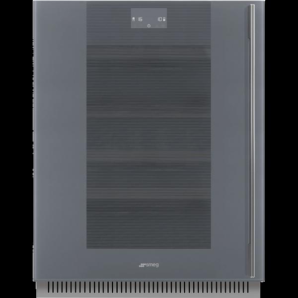 Холодильный шкаф для вина встраиваемый, 82 см, Серый Smeg CVI138LWS2