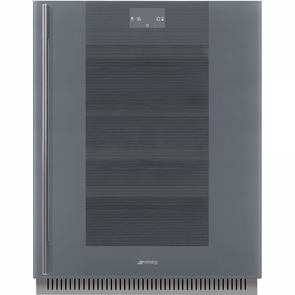 Холодильный шкаф для вина встраиваемый, 82 см, Серый Smeg CVI138RWS2