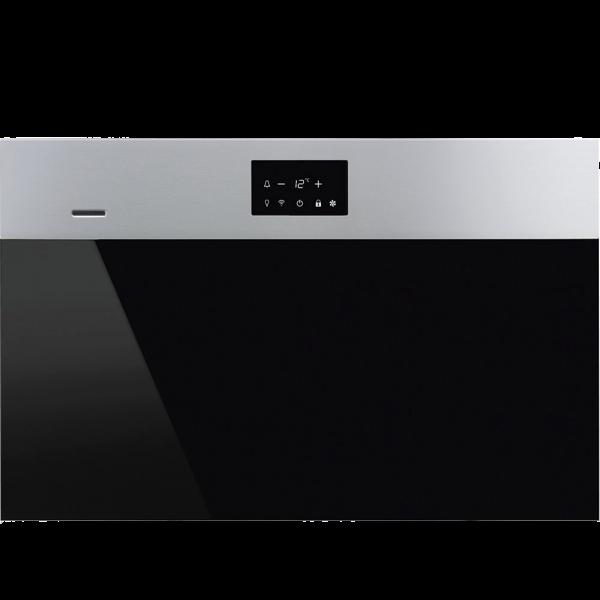 Холодильный шкаф для вина встраиваемый, 45 см, Нержавеющая сталь Smeg CVI318RWX2