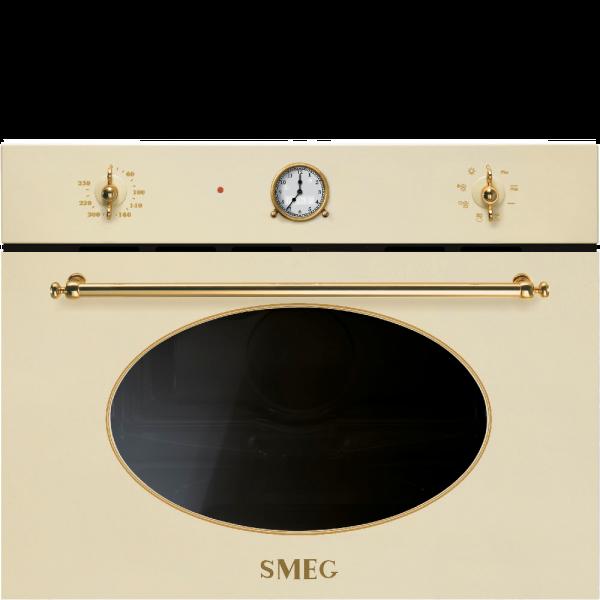 Встраиваемая микроволновая печь, 60 см, Кремовый Smeg SF4800MP