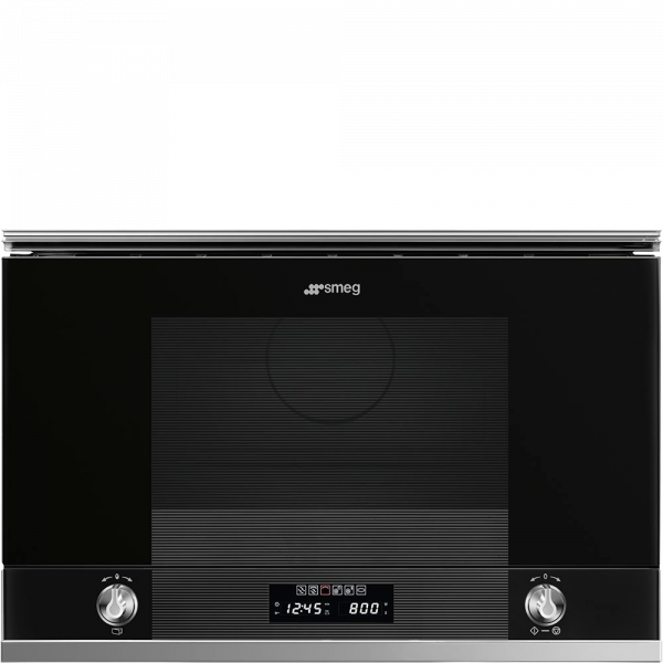 Встраиваемая микроволновая печь, 60 см, Чёрный Smeg MP122N1