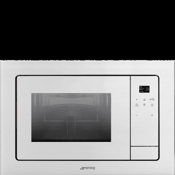 Встраиваемая микроволновая печь, 60 см, Белый Smeg FMI120B1