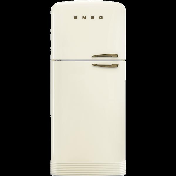 Отдельностоящий двухдверный холодильник, стиль 50-х годов, 80 см, Кремовый Smeg FAB50LCRB