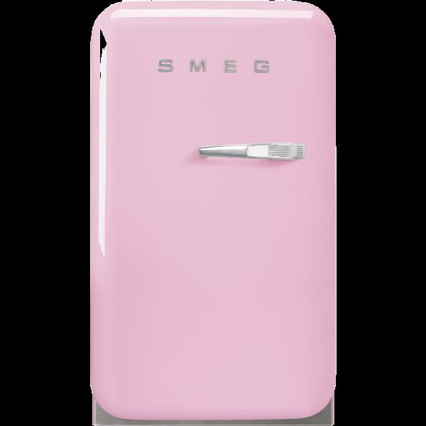 Отдельностоящий минибар, Розовый Smeg FAB5LPK5, стиль 50-х гг.