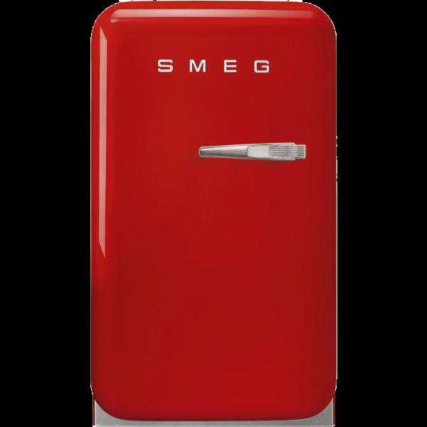 Отдельностоящий минибар, Красный Smeg FAB5LRD5, стиль 50-х гг.