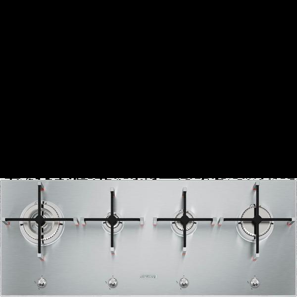 Газовая варочная панель, 100 см, Нержавеющая сталь Smeg PX1402