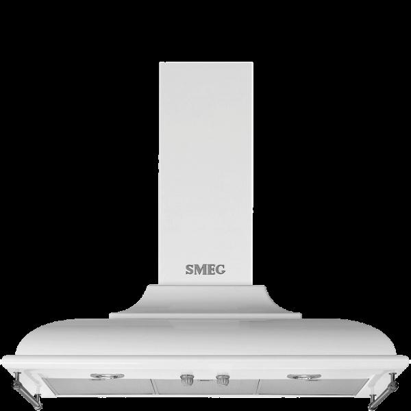 Вытяжка настенная декоративная, 89,5 см, Белый Smeg KC19BSE