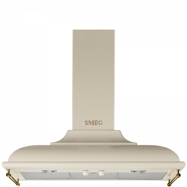 Вытяжка настенная декоративная, 89,5 см, Кремовый Smeg KC19POE