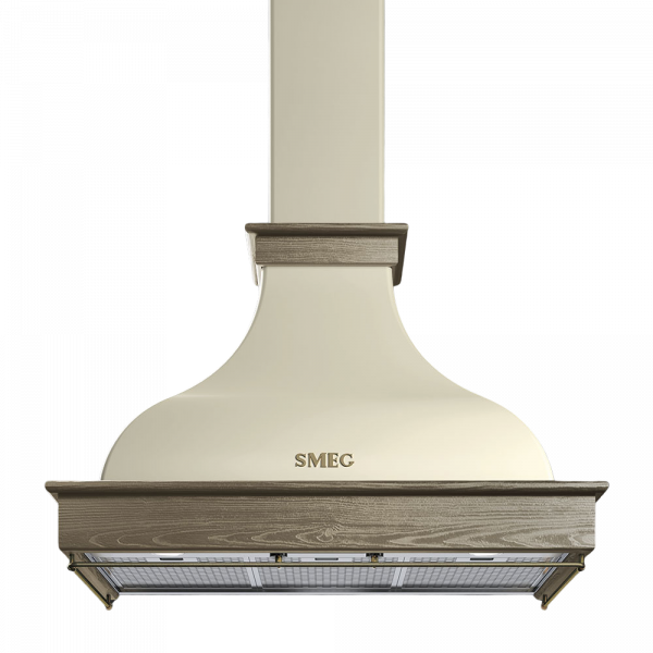 Вытяжка настенная, 90 см, Кремовый Smeg KCL900POE