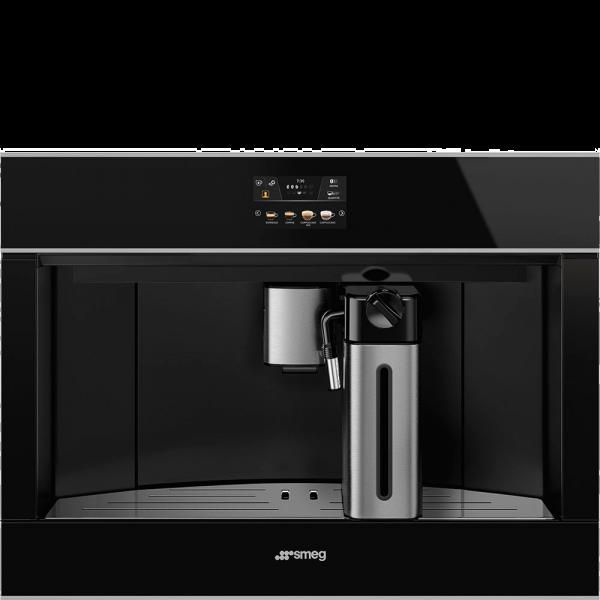 Автоматическая кофемашина, 60 см, Чёрный Smeg CMS4604NX