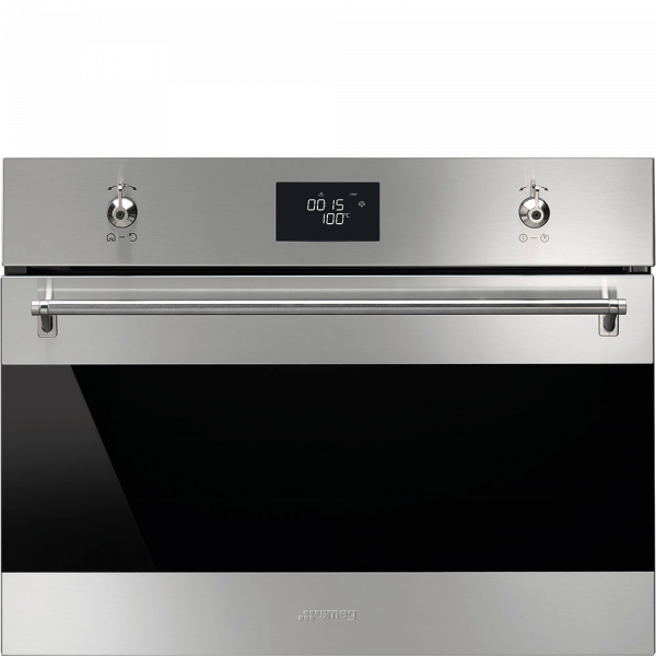 Встраиваемая микроволновая печь, 59,7 см, Нержавеющая сталь Smeg SF4309MX