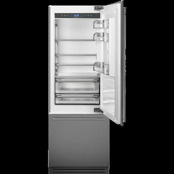 Встраиваемый холодильник, 74 см, Нержавеющая сталь Smeg RI76RSI