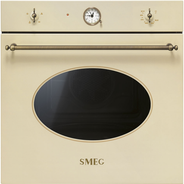 Газовый духовой шкаф, 60 см, Бежевый Smeg SF800GVPO