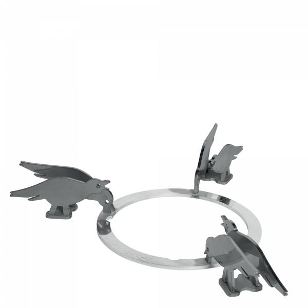 Набор декоративных решеток для варочных панелей Smeg KPDSN100B. Дизайн - птицы.