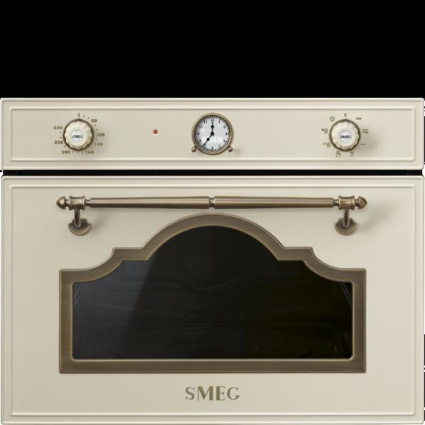 Встраиваемая микроволновая печь, 60 см, Кремовый Smeg SF4750MPO