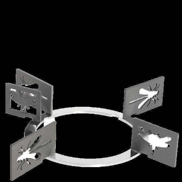 Набор декоративных решеток для варочных панелей Smeg KPDSN60I. Дизайн - насекомые.