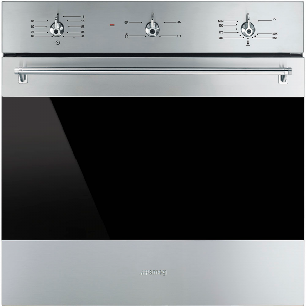Газовый духовой шкаф, 60 см, Нержавеющая сталь Smeg SF6341GVX