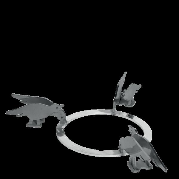 Набор декоративных решеток для варочных панелей Smeg KPDSN75B. Дизайн - птицы.