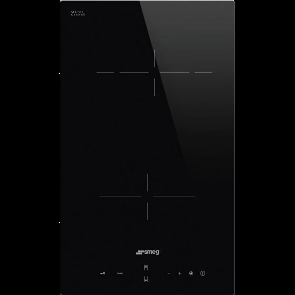 Стеклокерамическая варочная панель, 30 см, Чёрный Smeg SE232TD