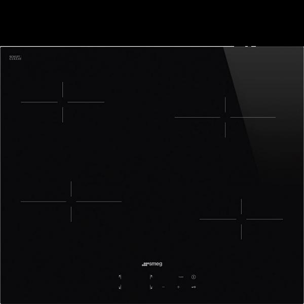 Стеклокерамическая варочная панель, 60 см, Чёрный Smeg SE264TD
