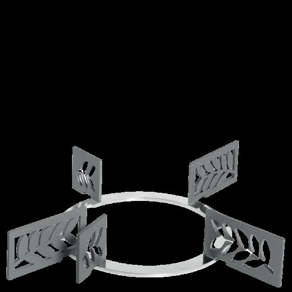 Набор декоративных решеток для варочных панелей Smeg KPDSN75L. Дизайн - листья.